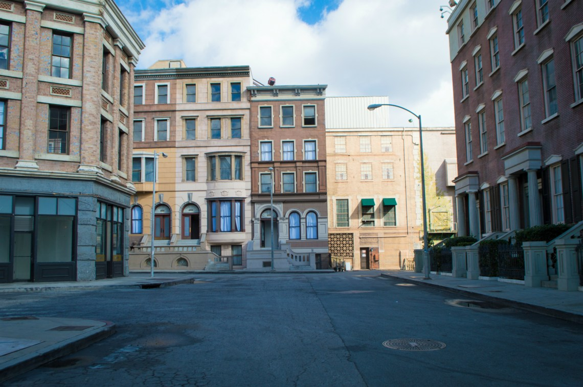A shot of the New York City backlot on the Paramount Studio Tour in Hollywood, California.
