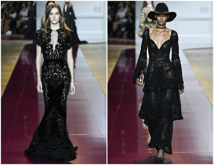 Zuhair Murad Fall 2016 Couture Black formal gown with sequins and sparkles