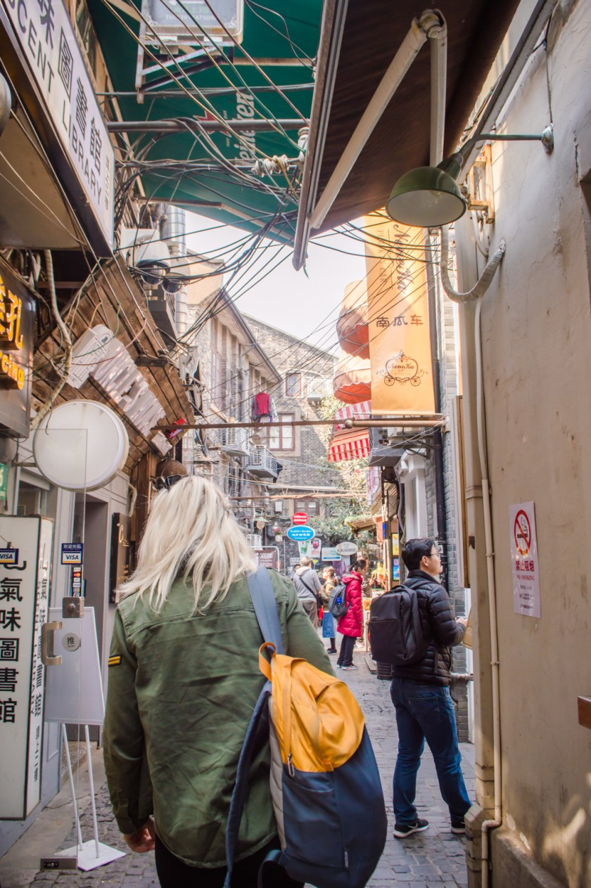 Exploring the alleys of the Shanghai French Concession.