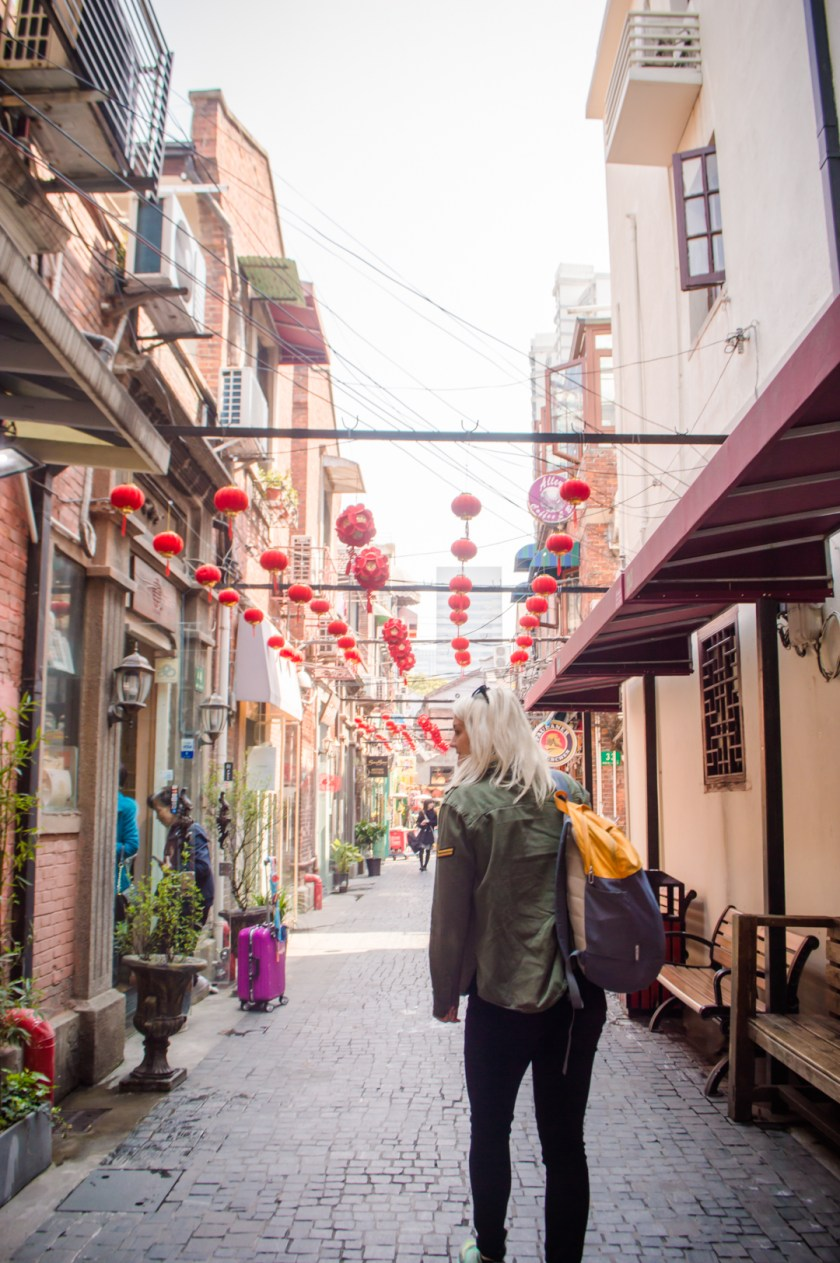 Alleyway shopping in the Shanghai French Concession.