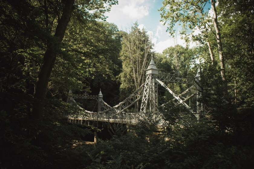 Mill Creek Park in Youngstown, Ohio: The Suspension Bridge