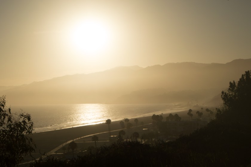 View of the Pacific Ocean during the Golden Hour | Palisades Park, Santa Monica, California | ColleenWelsch.com