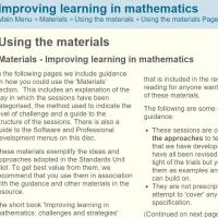The Standards Unit - Mathematics