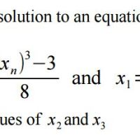GCSE New Content - Iterative Methods for Numerical Solution of Equations