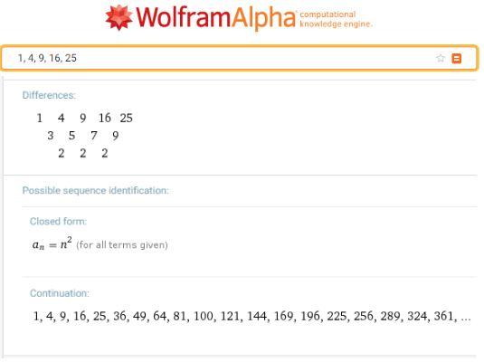 WolframAlpha Seqences