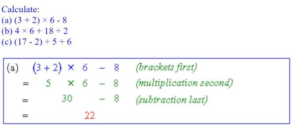 CIMT order of operations