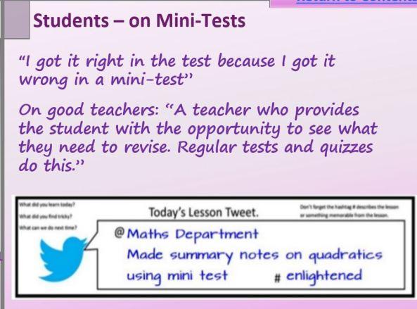 mini-tests