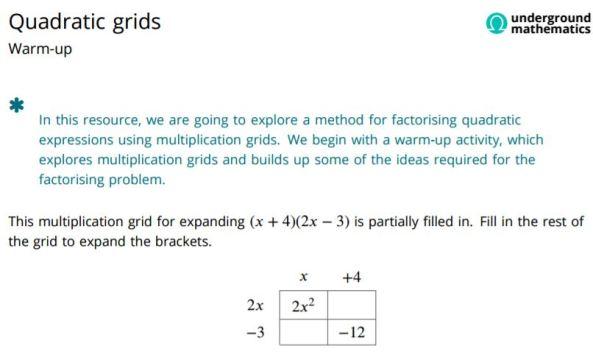 quadratic-grids