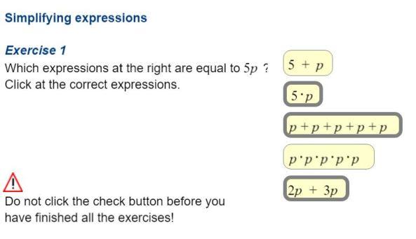 Test Yourself - Algebra