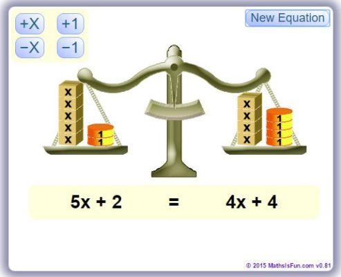Mathisfun Algebra Balance