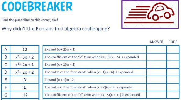 Edexcel Codebreaker