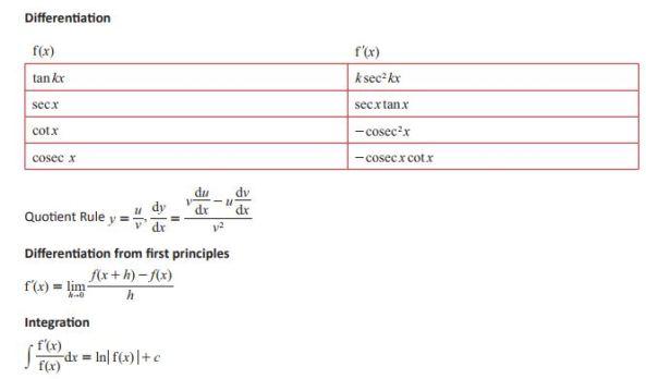OCR (MEI) Formulae