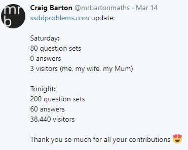SSDD tweet Craig Barton