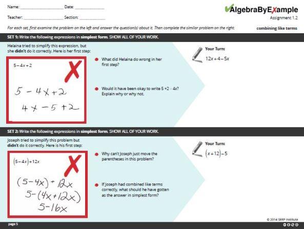 SERP - Algebra by Example