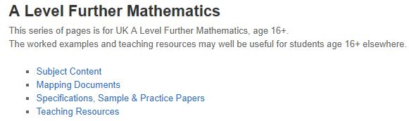 A Level Further Mathematics