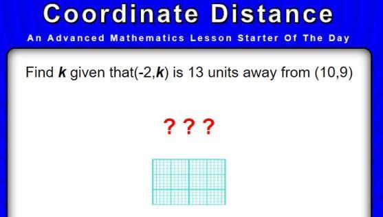 Coordinate Distance - Transum Advanced Starter