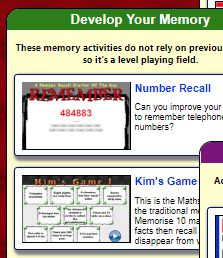 Develop your memory Transum