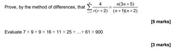 AQA Algebra Topic Test example