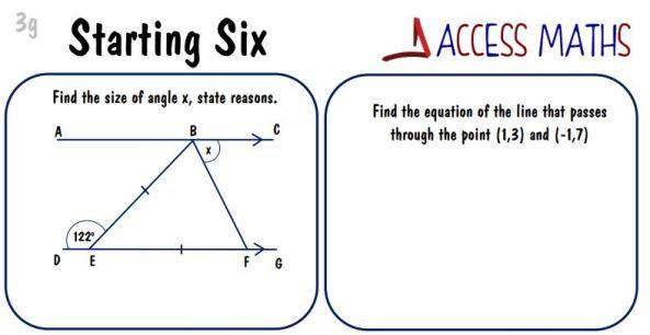 Starters - Access Maths