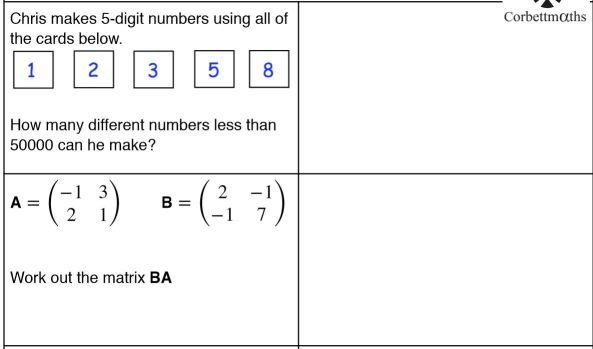 Corbett Further Maths 5-a-day