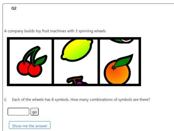 mathsgrader interactive example