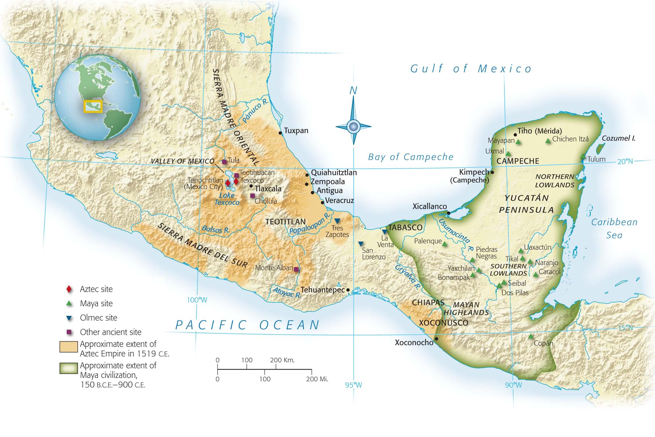 Map of Mesoamerica