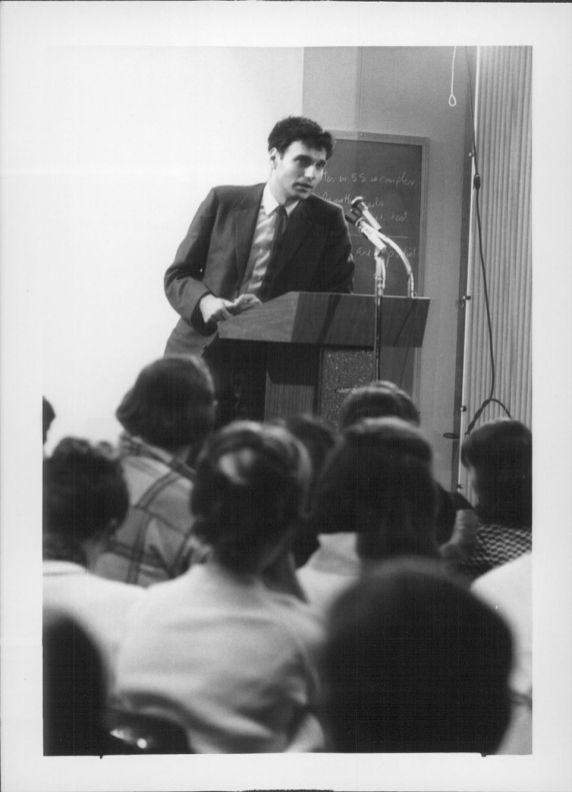 Ralph Nader speaks as part of the Concert/Lecture Series 1970