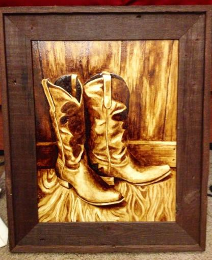 Boots In Coffee by Samantha M.