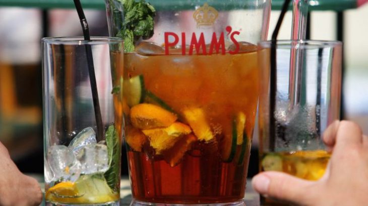 Pitcher Pimm's Cup Cocktail