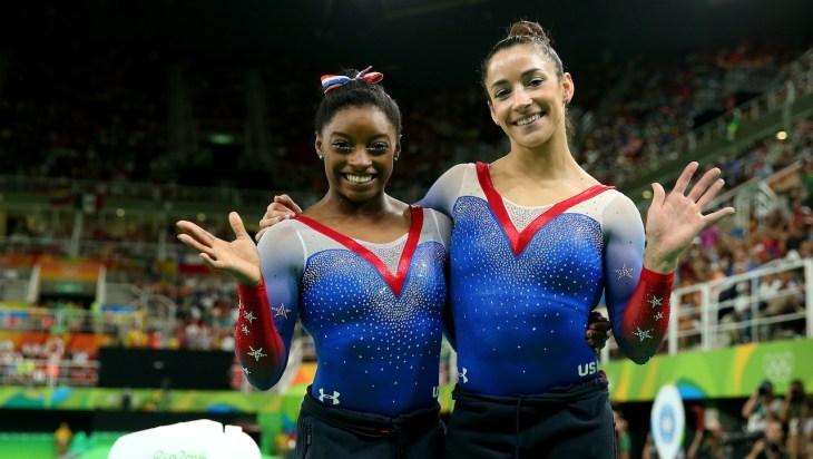 Simone Biles and Aly Raisman pose for cover of Sports Illustrated Swimsuit Issue 2017