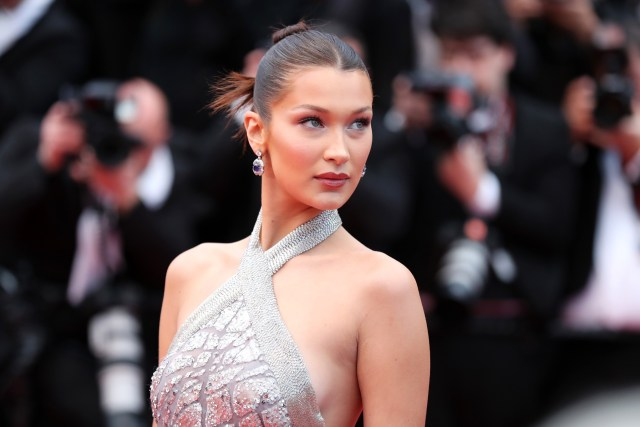 Bella Hadid at the 2018 Cannes red carpet