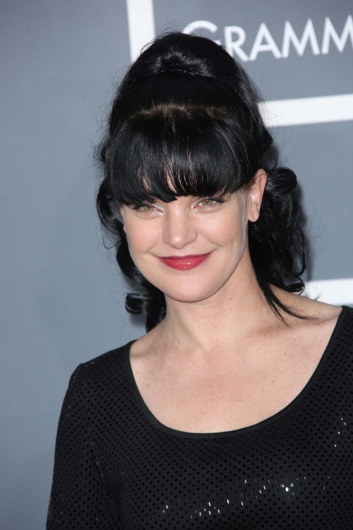 Pauly Perrette at the 55th Grammy Awards