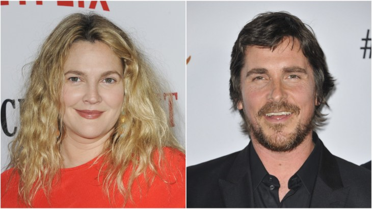 Drew Barrymore at the season 2 premiere of Santa Clarity Diet and Christian Bale at the premiere of the movie The Promise