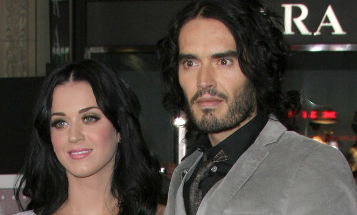 Katy Perry and Russell Brand at the Los Angeles Premiere of 'The Tempest' held At The El Capitan Theatre Hollywood California