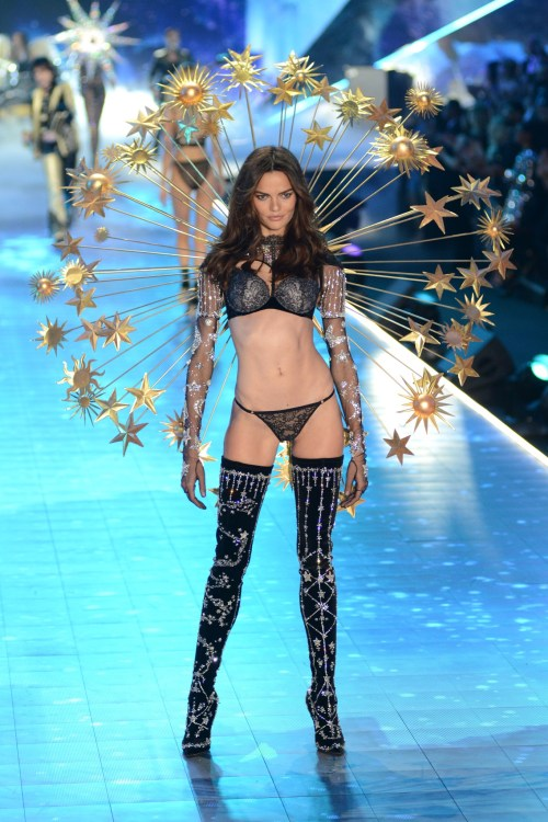 Barbara Fialho modeling at the Victorias's Secret Fashion Show 2018