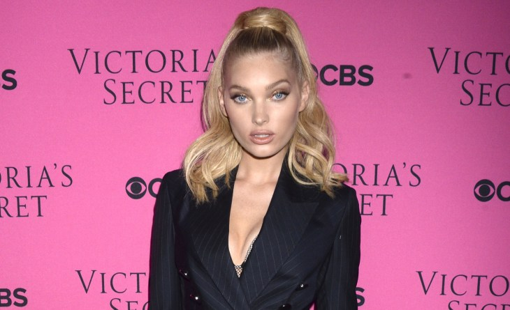 Elsa Hosk at the 2017 Victoria's Secret Fashion Show viewing party pink carpet