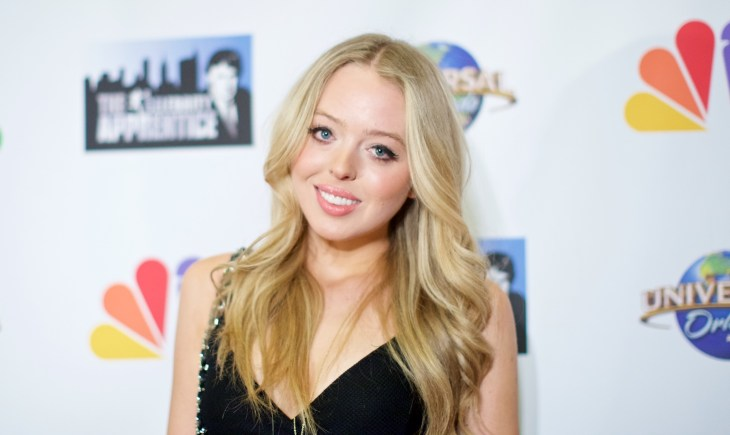 Tiffany Trump at the Celebrity Apprentice Finale Red Carpet at Trump Tower in 2015
