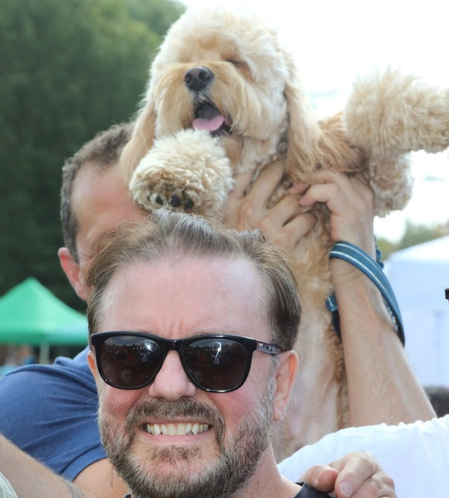 PupAid Puppy Farm Awareness Day 2018 at Primrose Hill, London Featuring: Ricky Gervais Where: London, United Kingdom When: 01 Sep 2018 Credit: WENN.com