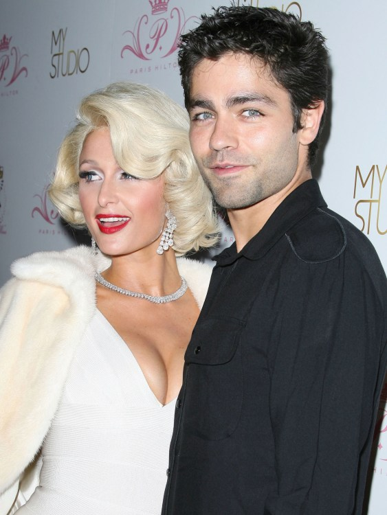 Paris Hilton and Adrian Grenier at her Tease perfume launch