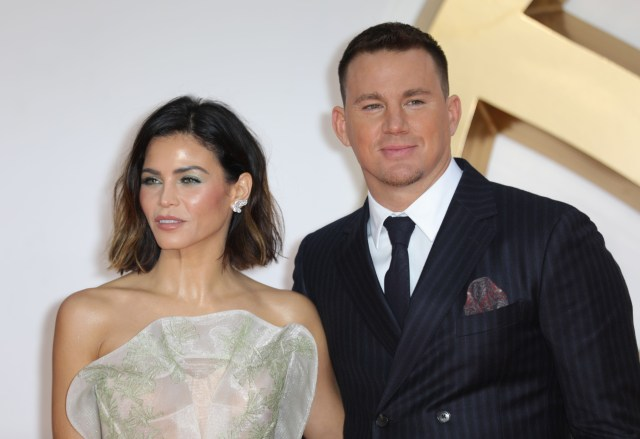 Channing Tatum and wife Jenna Dewan at the Kingsman: The Golden Circle