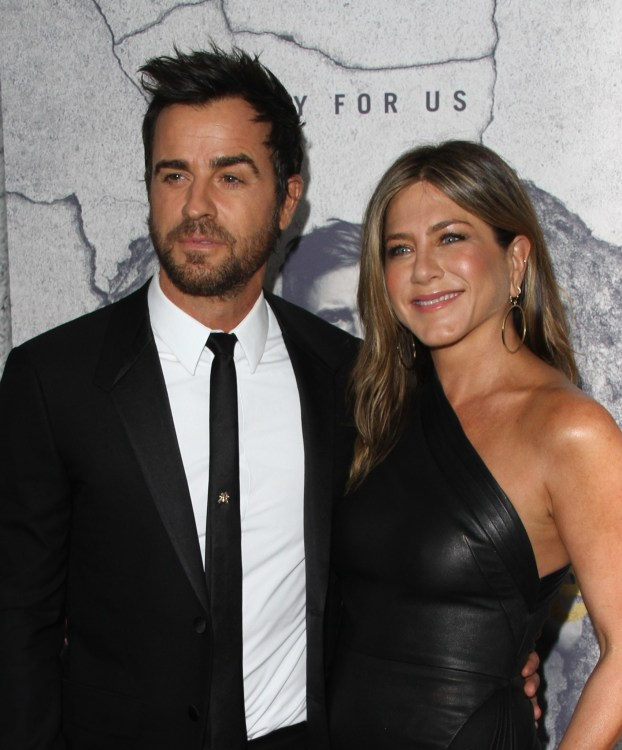 Jennifer Aniston and husband Justin Theroux at The Leftovers season 3 premiere