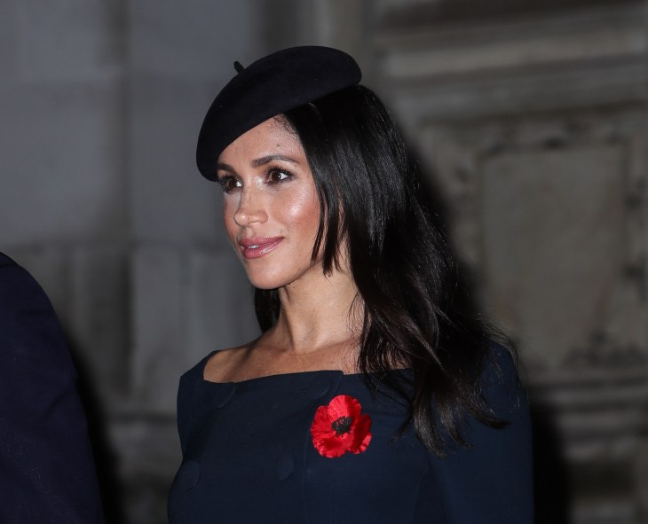 Meghan Markle at the Armistice for the end of WWI in 2018