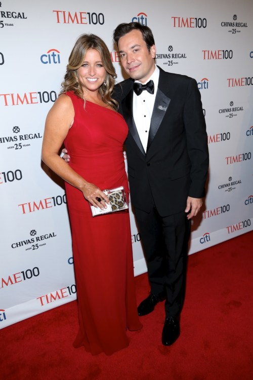 Jimmy Fallon and wife Nancy Juvonen at TIME 100 Gala TIME'S 100 Most Influential People In The World 2013