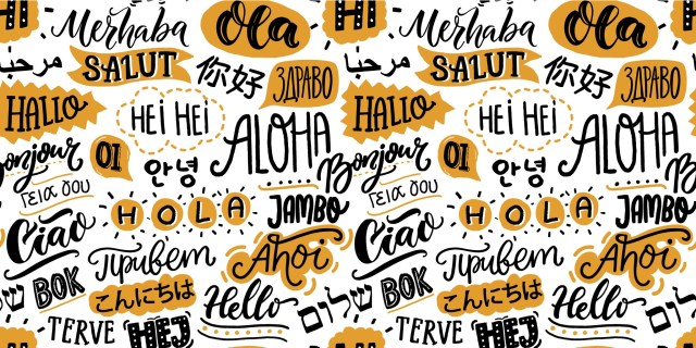 """""""Hello"""" in various languages"""