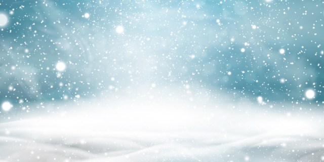 Natural Winter Christmas background with sky, heavy snowfall, snowflakes in different shapes and forms, snowdrifts. Winter landscape with falling christmas shining beautiful snow.