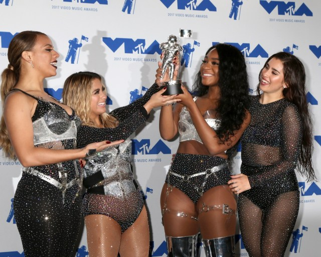 Dinah Jane, Ally Brooke, Normani Kordei, Lauren Jauregui, Fifth Harmony at the MTV Video Music Awards 2017 at The Forum on August 27, 2017 in Inglewood, CA