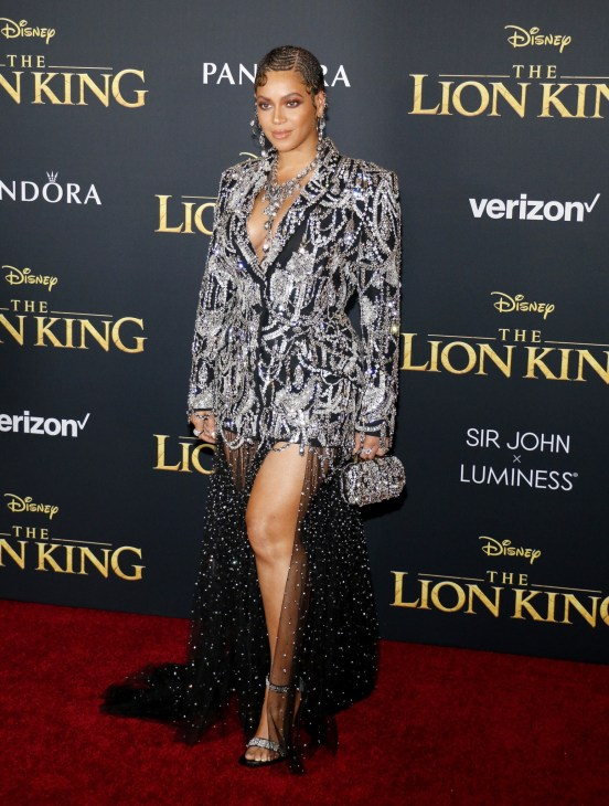 Beyonce at the World premiere of 'The Lion King' held at the Dolby Theatre