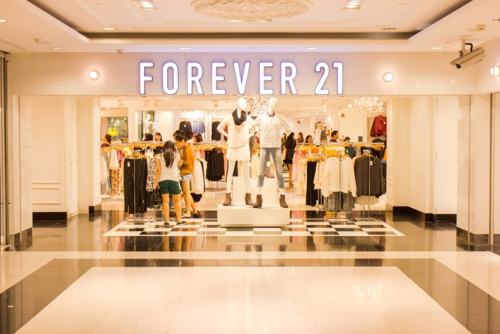 Forever 21 Store at ION Orchard shopping mall on October 19, 2014. Forever 21 fashion label has 480 stores worldwide and had USD 2.6 bn revenue in 2011.