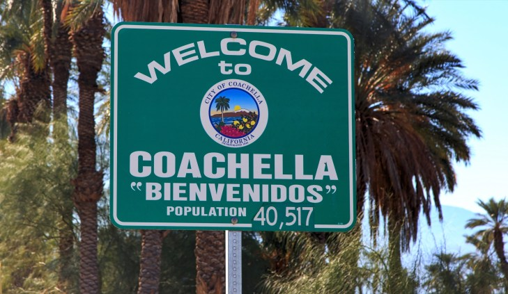 Welcome to Coachella sign
