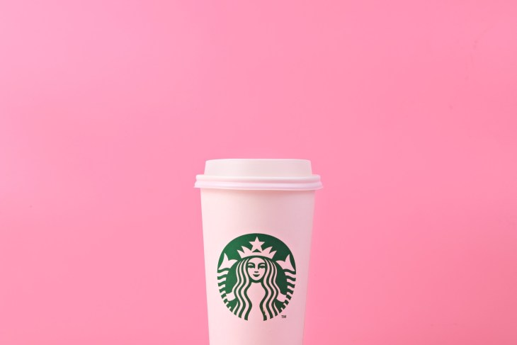 Starbucks Cup Pink Background